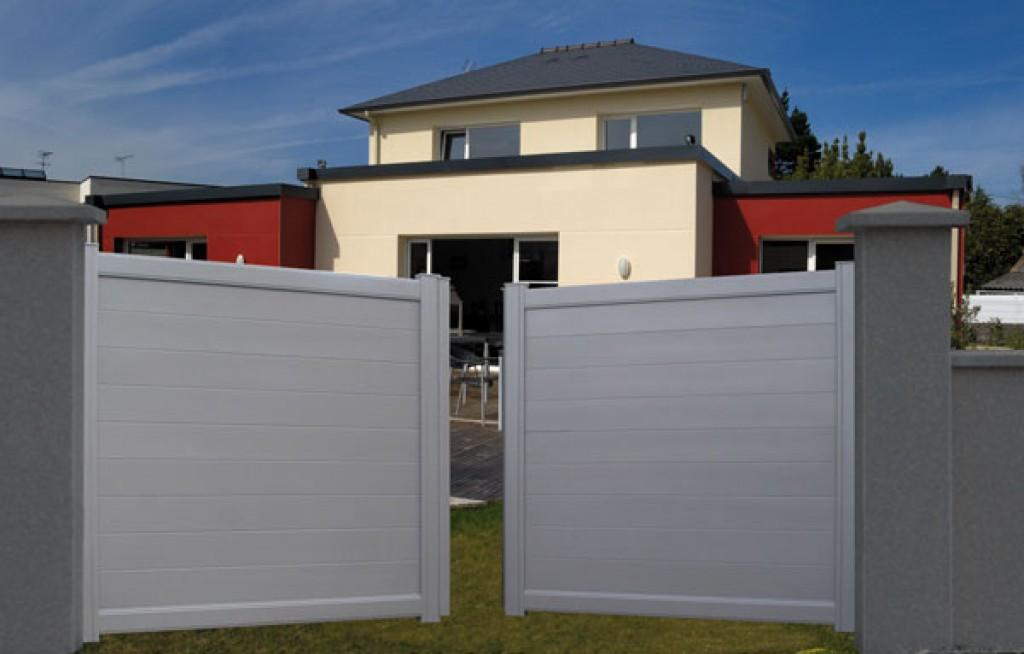 Portail De Cl Ture Pour Prot Ger La Maison Partner For Portail Pvc Blanc Pas  Cher