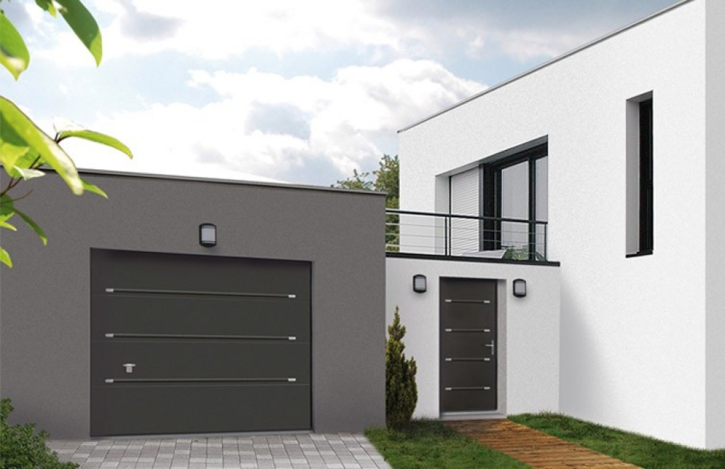 Porte de garage montpellier nimes avignon partner menuiseries - Porte de garage et porte d entree ...