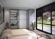 façade verre laqué blanc