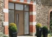 porte d'entrée bois design